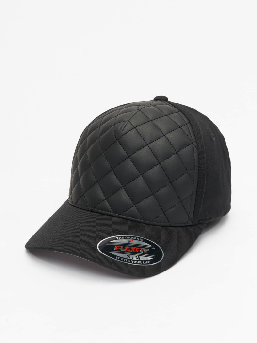 Flex Fitted Diamond Noir 180895 Flexfit Quilted Casquette 5LARj4
