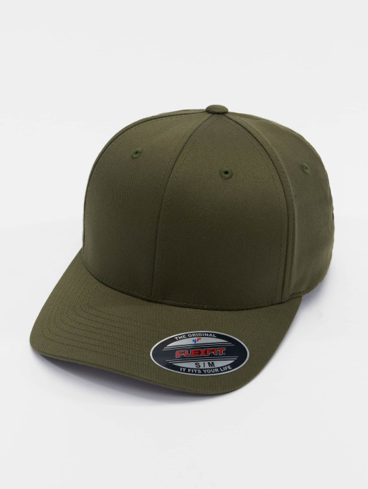 Olive Flexfit Combed Flex Wooly 180835 Casquette Fitted 543RqcAjL