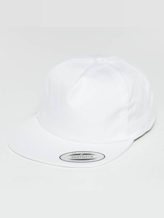 Unstructured Strapback Blanc Snapbackamp; Flexfit 496106 Casquette DEH2W9I