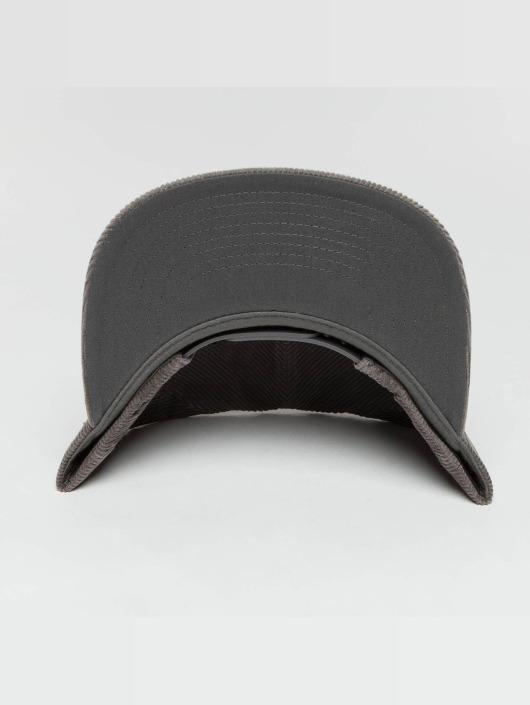 Flexfit Casquette Snapback & Strapback Premium Corduroy gris