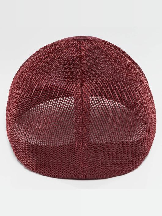 Flexfit Flexfitted Cap Mesh Cotton Twill červený