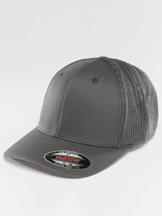 Flexfit Flexfitted Cap Mesh Cotton Twill šedá