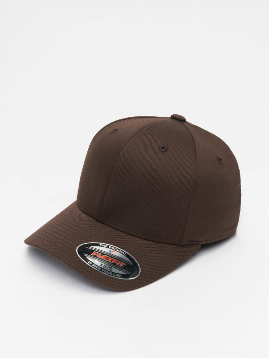 Flexfit Flexfitted Cap Wooly Combed brazowy