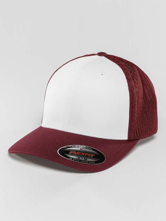Flexfit Flexfitted Cap Mesh Colored Front czerwony