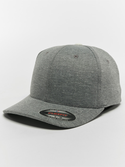 Flexfit Flexfitted Cap Piqué Dots grau