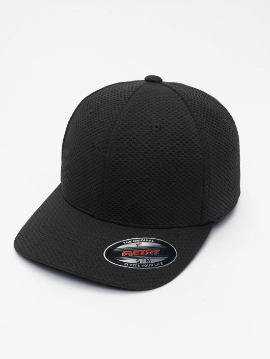 Flexfit Flexfitted Cap 3D Hexagon noir