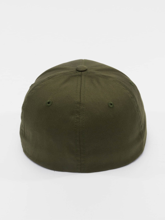 Flexfit Flexfitted Cap Wooly Combed olivová