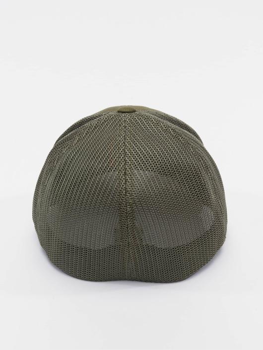 Flexfit Flexfitted Cap Mesh Cotton Twill olivový