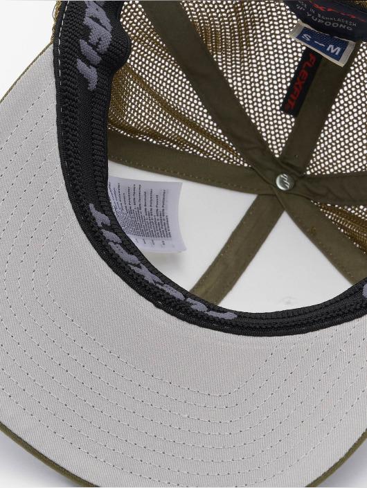Flexfit Flexfitted Cap Mesh Colored Front oliwkowy