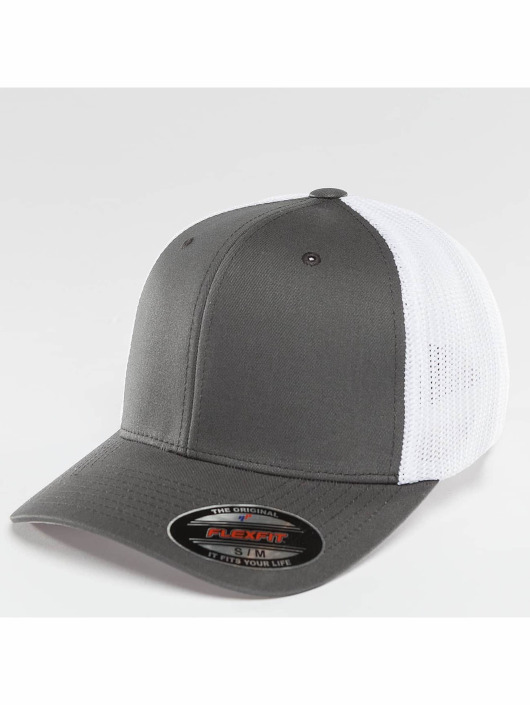 Flexfit Flexfitted Cap Mesh Cotton Twill Two Tone szary