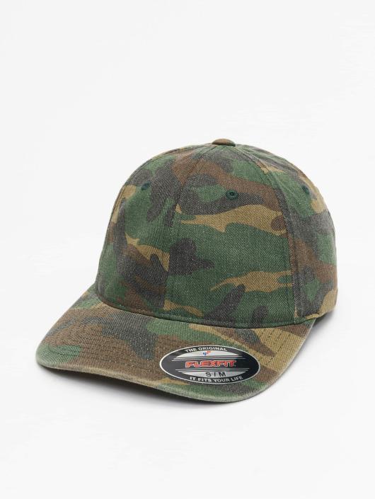 Flexfit Flexfitted Cap Garment Washed Camo zielony