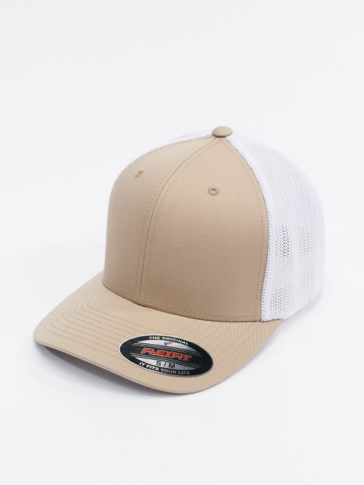Flexfit Lastebilsjåfør- / flexfitted caps Mesh Cotton Twill beige