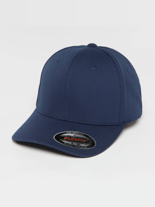 Flexfit Lastebilsjåfør- / flexfitted caps 3D Hexagon blå