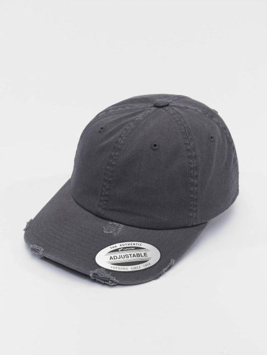 Flexfit Snapback Low Profile Destroyed šedá