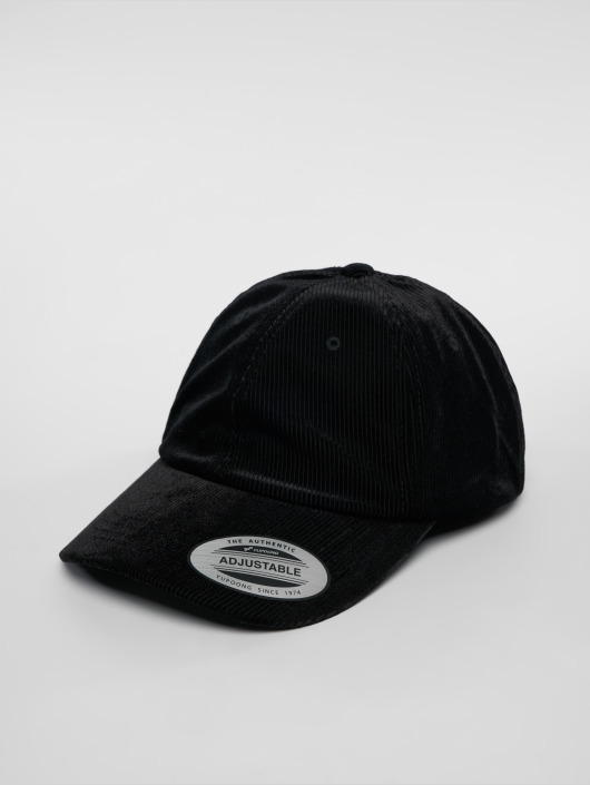Flexfit Snapback Cap Corduroy Satin Dad black