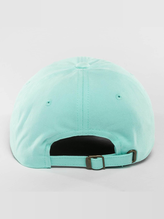 Flexfit Snapback Cap Peached Cotton Twill Dad blau