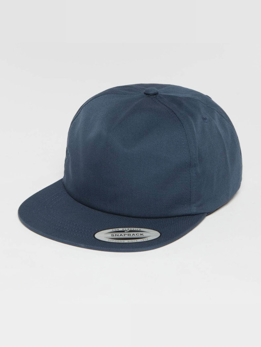 Flexfit Snapback Cap Unstructured blau