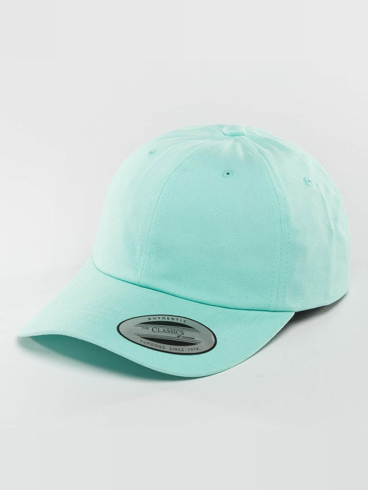 Flexfit snapback cap Peached Cotton Twill Dad blauw