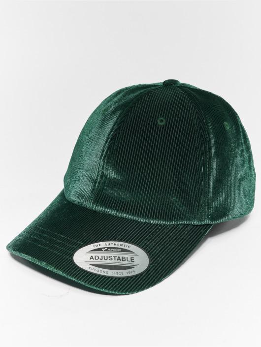 Flexfit Snapback Cap Corduroy Satin grün