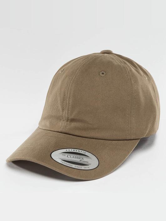 Flexfit Cap   snapback cap Peached Cotton Twill Dad in khaki 398502 3df0eeae7e28