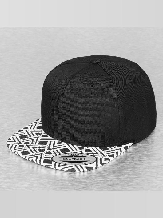 Flexfit Snapback Cap Geometric Visor schwarz