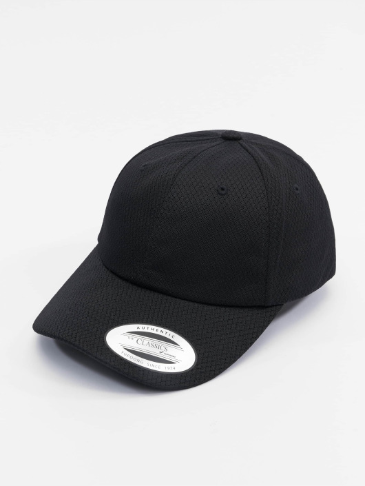 Flexfit Snapback Cap Honeycomb Dad schwarz