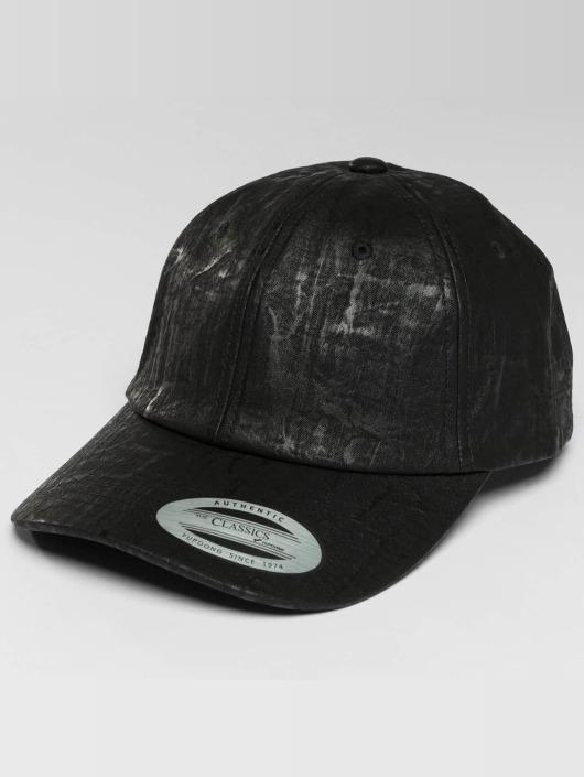 Flexfit Snapback Cap Low Profile Coated schwarz