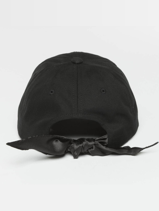 Flexfit Snapback Cap Satin Bow Dad schwarz