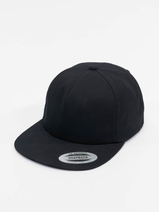 Flexfit Snapback Cap Unstructured schwarz