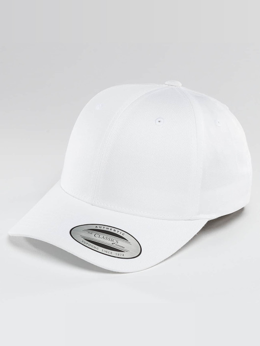 Flexfit Snapback Caps Curved Classic bialy