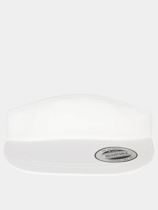 Flexfit Snapback Caps Flat Round Visor bialy