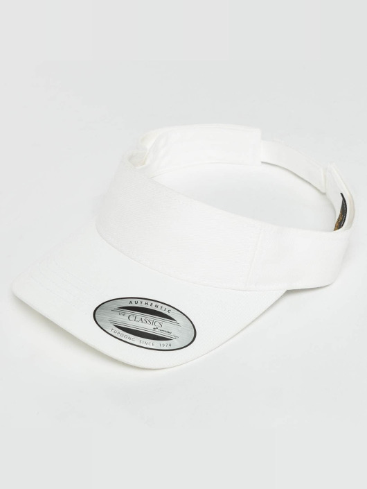 Flexfit Snapback Caps Curved Visor bialy