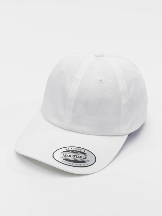 Flexfit Snapback Caps Low Profile Organic Cotton bialy