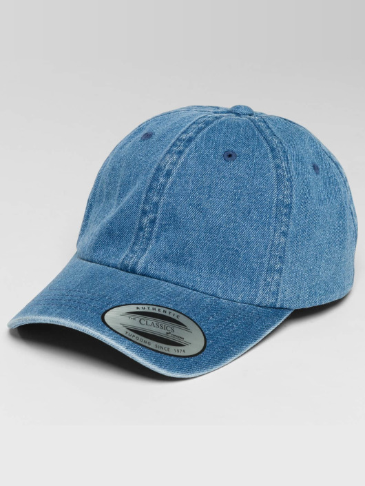 Flexfit Snapback Caps Low Profile Denim blå
