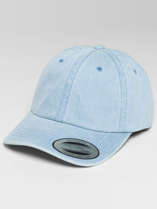 Flexfit Snapback Caps Low Profile Denim blå