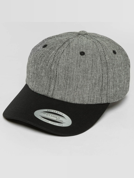 Flexfit Snapback Caps Low Profile Denim grå