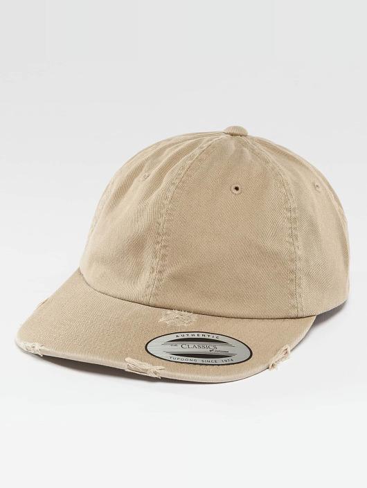 Flexfit Snapback Caps Low Profile Destroyed khaki