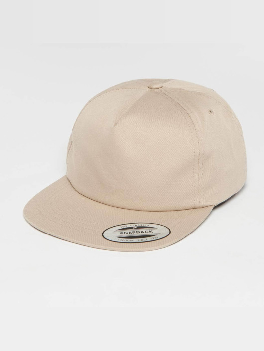 Flexfit Snapback Caps Unstructured khaki