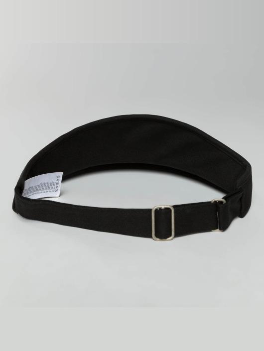 Flexfit Snapback Caps Flat Round Visor musta