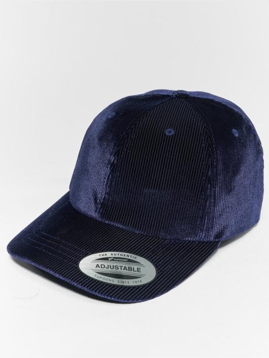 Flexfit Snapback Caps Corduroy Satin Dad niebieski
