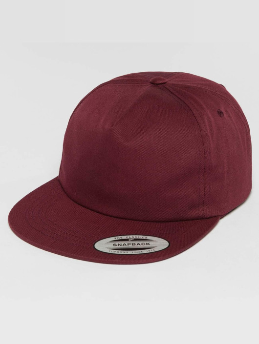Flexfit Snapback Caps Unstructured punainen
