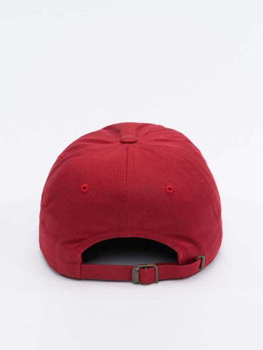 Flexfit Snapback Caps Low Profile Cotton Twill red