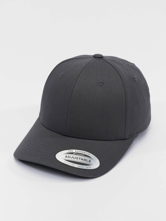 Flexfit Snapback Caps Curved Classic szary