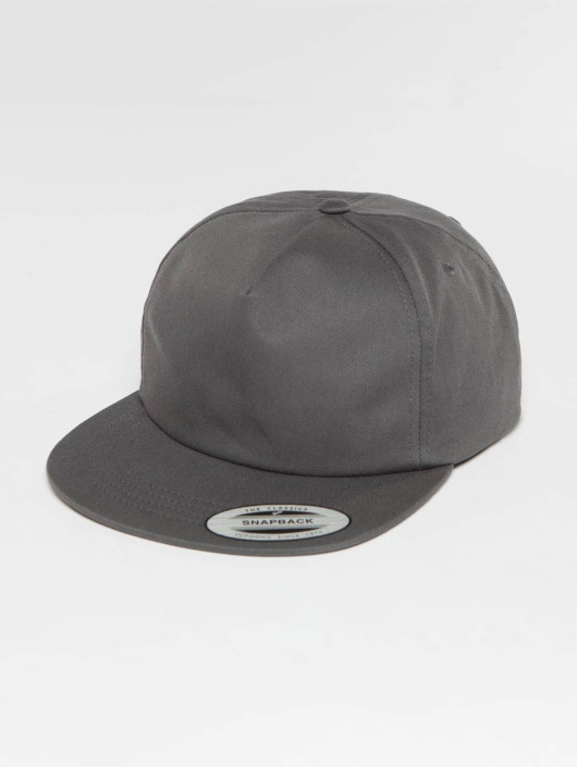 Flexfit Snapback Caps Unstructured szary