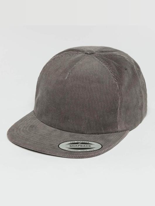 Flexfit Snapback Caps Premium Corduroy szary
