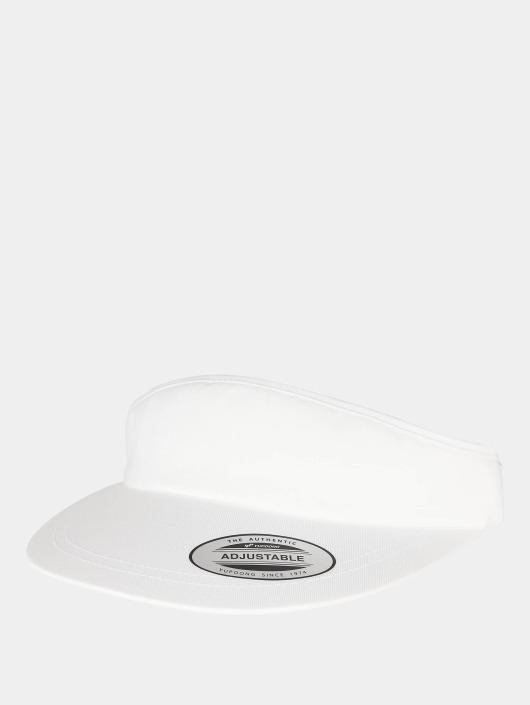 Flexfit Snapback Caps Flat Round Visor valkoinen