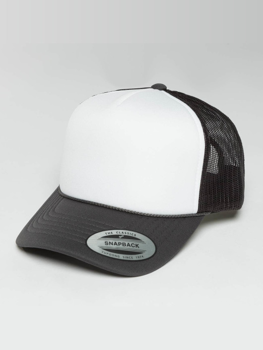 Flexfit Trucker Curved Visor Foam šedá