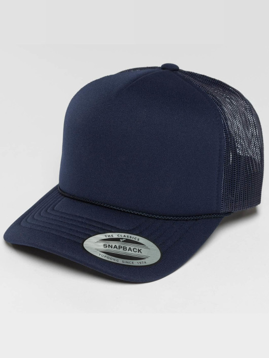 Flexfit Trucker Cap Curved Visor Foam blu