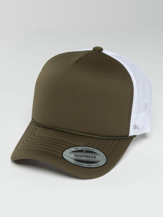 Flexfit Trucker Cap Curved Visor Foam green