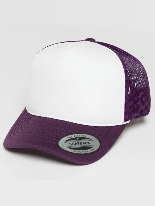Flexfit trucker cap Curved Visor Foam paars